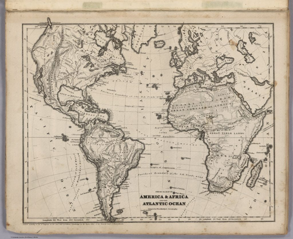 Empire of the oceans - map of the Atlantic world
