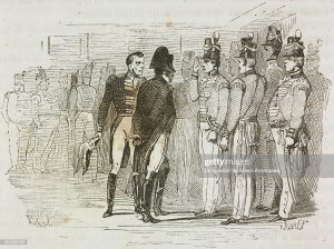Officers of the 66th meet Napoleon at Longwood