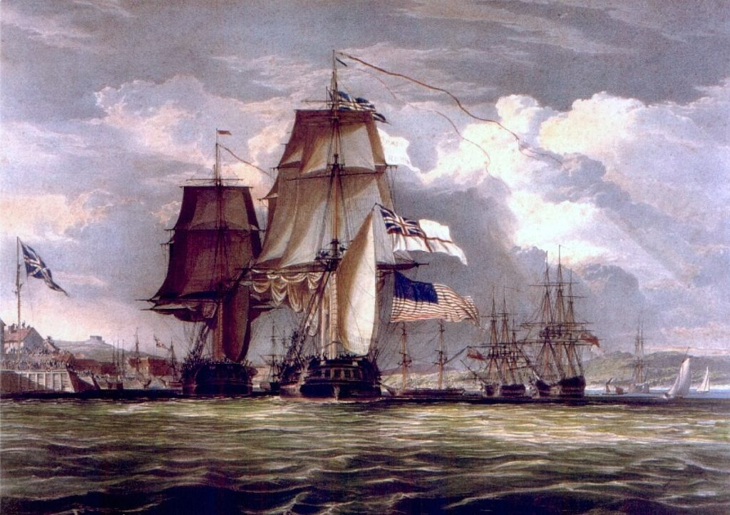 The British locate and destroy privateers