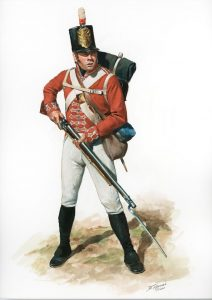 Napoleon in exile on St Helena - guard duty.